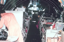 Interior of DC-6 looking forward.