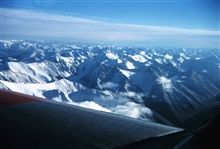 Flying over the Brooks Range enroute to North Slope