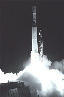 NOAA 1   (ITOS -A) lifts off on Launch Vehicle Delta 81.