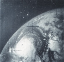 Hurricane Betsy as photographed from TIROS VIII