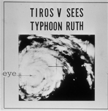 TIROS V, launched June 19, 1962, captures an image of Typhoon Ruth showingdistinct eye.
