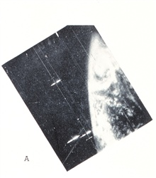 TIROS I image of extratropical cyclone centered about 400 mileswest of Ireland.  This is the same storm shown in image spac0098. Monthly Weather Review, March 1961, p. 81.