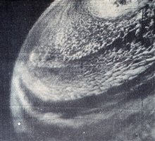 TIROS I image of extratropical cyclone centered about 800 mileswest of Southern California.  Monthly Weather Review, March 1960, p. 84.
