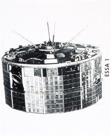 ESSA I, a TIROS cartwheel satellite launched on February 3, 1966.