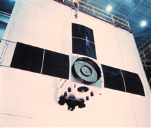 An Improved TIROS Operational System (ITOS)satellite prior to launch.
