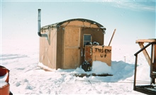 An O camp wanigan - observer's living space while at stationHeating very inefficient - top bunks at 100 degreesBottom bunk at 0 degrees