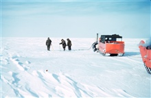 Other than the cold, baseline measurements were facilitated by measuring acrossthe flat lagoon ice from mainland point-to-point.Baselines were measured to second-order standards and 4-5 miles long.