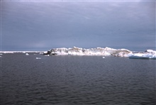 A large ice berg (by Beaufort Sea standards) - remains of a pressure ridge.