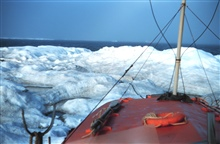 A boat's eyeview of an ice bergTied up to berg while collecting water