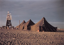 A Shoran navigation shore station and launch shore camp.