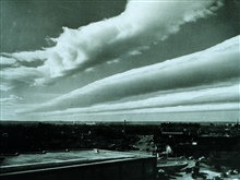 Wave clouds extending from southwest to northeastThe base of the clouds at 10,000 to 12,000 feet