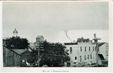 Tornado cloud as seen over the buildings of an American cityIn: The New Air World, Willis Luther Moore, 1922.Figure 17, p. 144