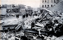 Tornado damage at Omaha.  154 killed and over 3000 left homelessAs seen in:  Our National Calamity of Fire, Flood, and Tornadoby Logan Marshall, 1913.  L. T. Myers publisher.
