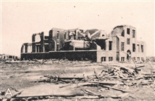 Ruins of the Longfellow School where 17 children were killed.  The storm hit theschool at about 2:30 p.m.  A casualty of the Tri-State Tornado, the longest-lived and longest path of any recorded tornado.  It travelled 300 miles from SEMissouri to Ind