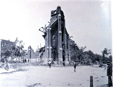 Church of St. John of Nepomuk, Eleventh and Soulard.In: Photographic Views of the Great Cyclone at St. Louis, May 27, 1896.Library Call Number M15.1 P575.