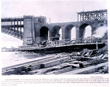 The Eads Bridge.In: Photographic Views of the Great Cyclone at St. Louis, May 27, 1896.Library Call Number M15.1 P575.