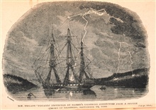 H. M. Frigate Fisgard protected by Harris's lightning conductors ....September 26, 1846.In:  The Thunder-storm by Charles Thomlinson, F.R.S., 1877, frontispiece
