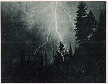 Lightning striking in a forest in the Pacific NorthwestIn: Lightning Storms and Fires...., William G. Morris, 1934Frontispiece