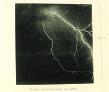 Lightning in the vicinity of Hamburg, GermanyIn: Uber die Entstehungsweise des Blitzes, B. Walter, 1903Figure 14