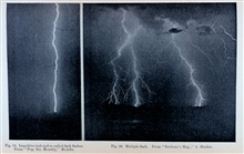 Figure 19.  Impulsive Rush and So-called Dark Flashes.  Figure 20.  MultipleFlash.  In:  Protection from Lightning, by Alexander McAdie.Weather Bureau Circular of Information, published in 1894.Library Call Number TH 9057.M3 1894.