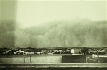 Sandstorm approaching Big Spring.  This storm was a forerunner of the greatdust storms of the Dust Bowl years.  In:  Monthly Weather Rebiew, January 1931, p. 30.