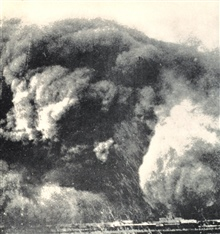 Caption: Dust Over Texas.  Huge boiling masses of dust that blocked out thesun were common sights in Texas during the Dust Bowl years.In: To Hold This Soil, Russell Lord, 1938.  Miscellaneous Publication No. 321, U.S. Department of Agriculture.