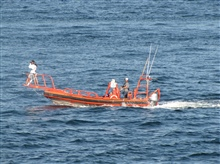 RHIB off of NOAA Ship PISCES engaged in marine mammal photography