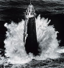 Rough weather for lighthouse keepers.