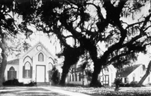 Trinity Episcopal Church was built in 1849Before Hurricane Camille