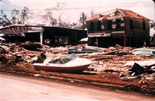 The aftermath of Hurricane Camille.