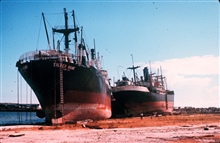 The aftermath of Hurricane Camille.Large ships were no match for Camille.