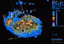 Hurricane Andrew - WSR-88D radar image as Andrew made landfallAugust 24, 1992 at Dade County, Florida