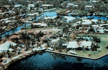 Hurricane Andrew - The marina Gables by the Sea after the storm surge