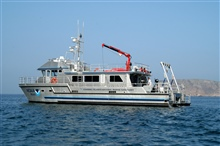 Channel Islands National Marine Sanctuary vessel SHEARWATER atCuyler Harbor, San Miguel Island.