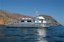 Channel Islands National Marine Sanctuary vessel SHEARWATER atSanta Cruz Island.