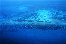 Aerial view of Florida Reef from the Gulf Stream side of the reef