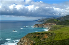 Big Sur coastline looking north to Bixby Canyon Bridge.