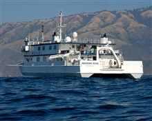 The Monterey Bay Aquarium Research Institute research vessel WESTERNFLYER on the search for the airship MACON expedition.