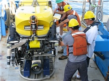 The Northeast Underwater Research Technology and Education Center atthe University of Connecticut operates the remotely operated vehicle KRAKEN 2.It is being prepared for a dive in the Stellwagen Bank National Marine Sanctuary.