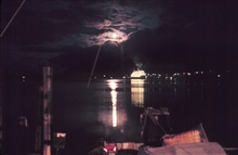Cruise ship at Juneau in the moonlight