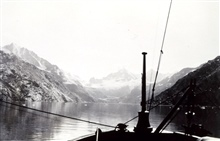 C&GS; Ship WESTDAHL.In Glacier Bay heading up Johns Hopkins Inlet.