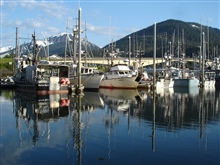 Small boat marina at Juneau.
