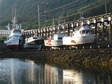 Fishing vessels on the ways at Juneau.