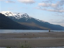 Low tide in the Juneau area.