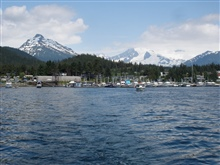 Small boat marina in the Juneau area.