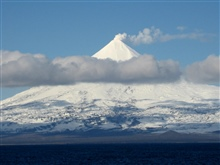 Shishaldin Volcano, one of the great navigationallandmarks of Alaska.