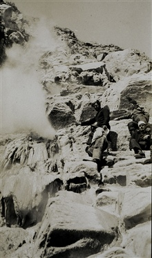 A fumarole on an Aleutian Island.The Aleutian islands are among the most volcanically active areas on Earth