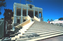 The Government House at Christiansted, under repair from hurricanedamage.