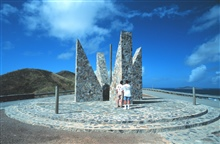 Point Udall Millennium Monument.  A sundial was erected here, the easternmostpoint of United States Territory to commemorate the coming of the new millennium.  The marker represents a continuum between all who have come before and allwho are yet to c