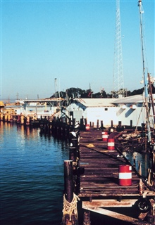 The NOAA Ship RUDE's berthing pier at Cameron